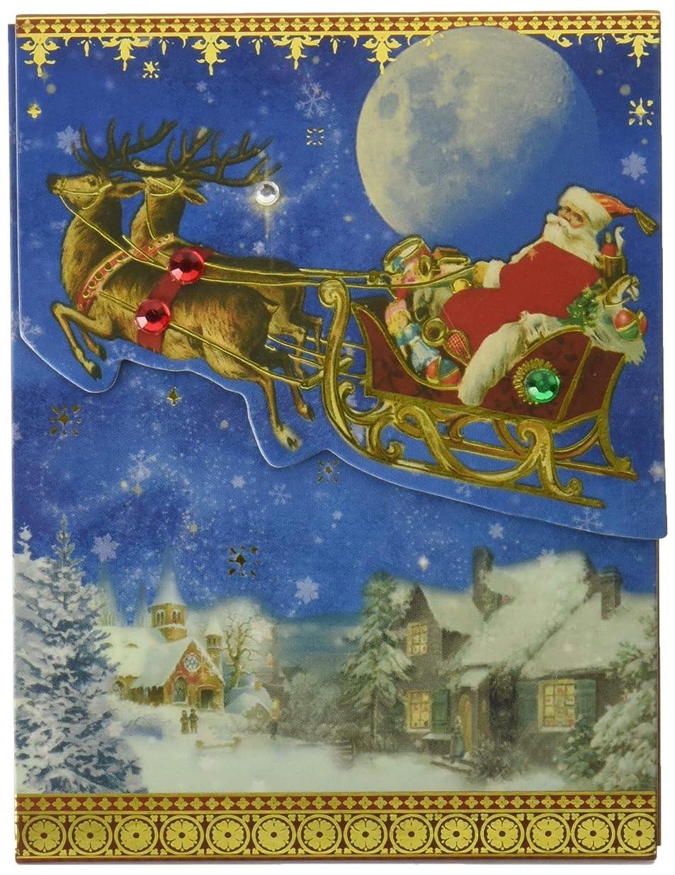 ありそう雲パイプパンチスタジオ 【クリスマス】 ミニノートパッド (サンタクロース×ブルー) 42583