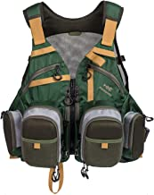 Bassdash Fly Fishing Vest Multi Pocket Waistcoat Adjustable Size for Men Women