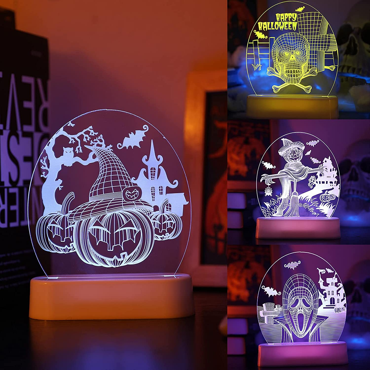 Halloween Night Light with favorite Remote Pumpkin Control Ghost Max 52% OFF Panel