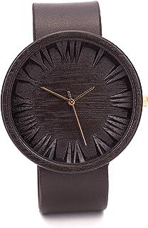 Ovi Watch - Negro Reloj de Madera Hombre - Simple y elegante para los que aprecian los productos naturales y hechos a mano