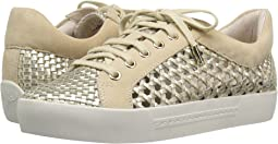 White Gold Metallic Woven Nappa