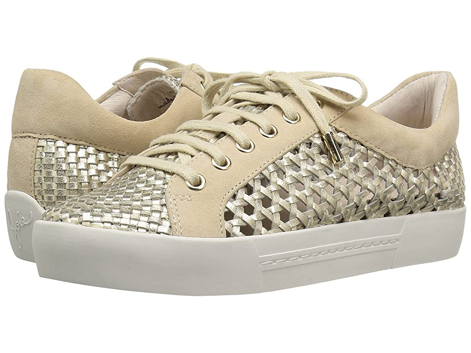 Joie Duha (White Gold Metallic Woven Nappa) Women
