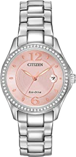 Women's Eco-Drive Silhouette Crystal Watch with Date