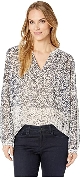 Long Sleeve Tranquil Petals Peasant Blouse
