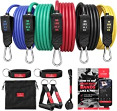 Resistance Bands Weerstandsbanden Fitness Set + Trainings eBook - Expander Tubes - Elastische Work-Out Power Weerstand Ban...