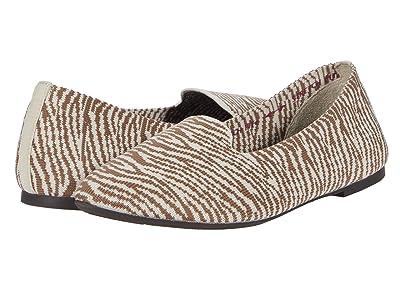 SKECHERS Cleo Knitty Zebra (Natural/Tan) Women