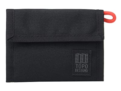 Topo Designs Tri-Fold Wallet (Black) Wallet Handbags