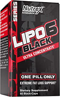 Nutrex Research Lipo-6 Black Ultra Concentrate   Thermogenic Energizing Fat Burner Supplement, Increase Weight Loss, Energ...