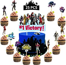 Video Game Cake Topper, New Style Cupcake Topper Season 9 for Game Fans Birthday Party, 25Pcs Cake Decorations Supplies for Boy,Kids,Adults