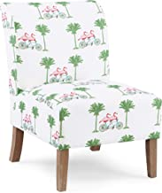 Linon Ivory Flamingo Slipper Lily Chair