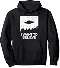I Want to Believe Area 51 Funny Alien Abduction Gift Design Pullover Hoodie