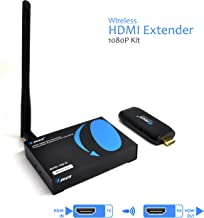 OREI Wireless HDMI Extender Transmitter & Receiver Dongle 1080P Kit - Up to 100 Ft - Perfect for Streaming from Laptop, PC, Cable, Netflix, YouTube, PS4 to HDTV/Projector