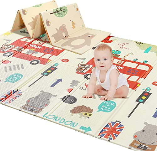 """2021 78"""" lowest X 70"""" Baby Play Mat Floor Mat Foam Playmat, Non-Toxic Foldable Waterproof Crawling Mat for Toddlers new arrival and Infants outlet sale"""