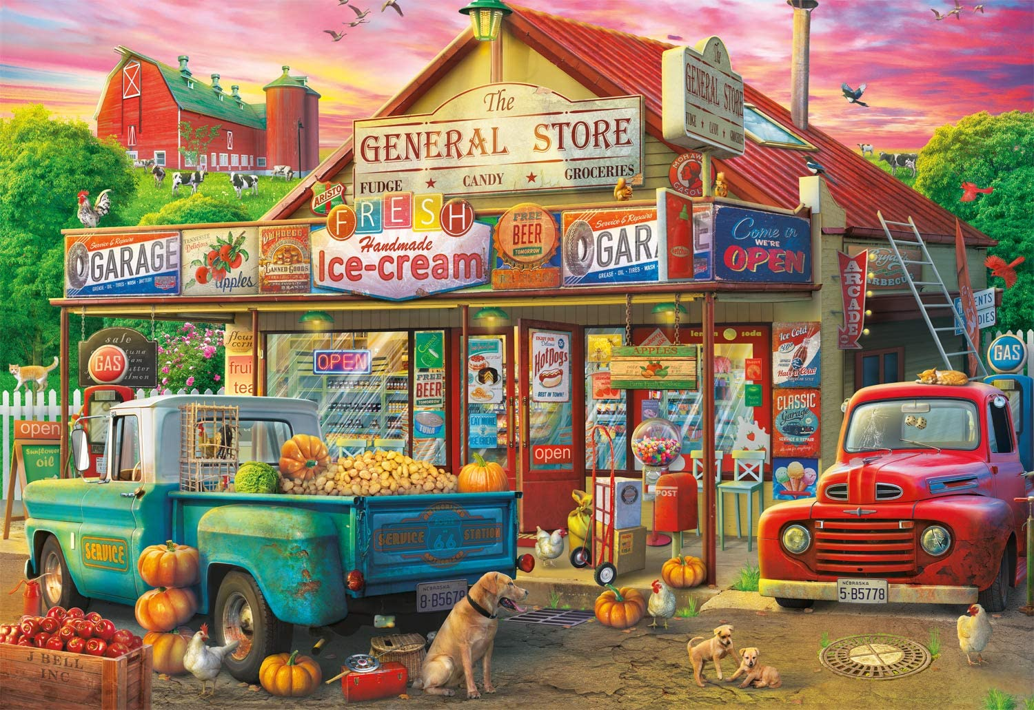 Safety Fixed price for sale and trust Buffalo Games - Country Store Piece 2000 Puzzle Jigsaw