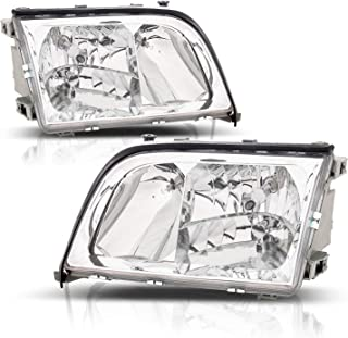 AmeriLite Crystal Headlights for Mercedes-Benz S Class W140 - Passenger and Driver Side