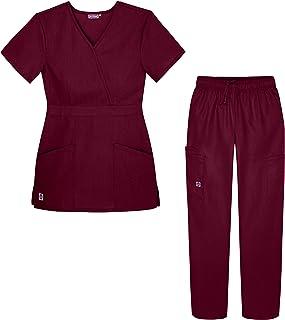 Sivvan Women's S8401brg3x Medical Scrubs, Burgundy, 3XL UK