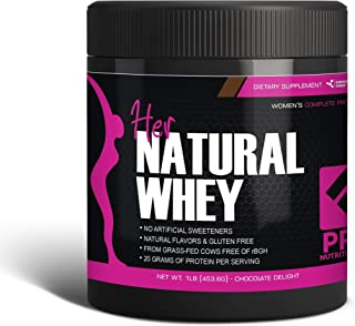 Protein Powder For Women - Her Natural Whey Protein Powder For Weight Loss & To Support Lean Muscle Mass - Low Carb - Glut...