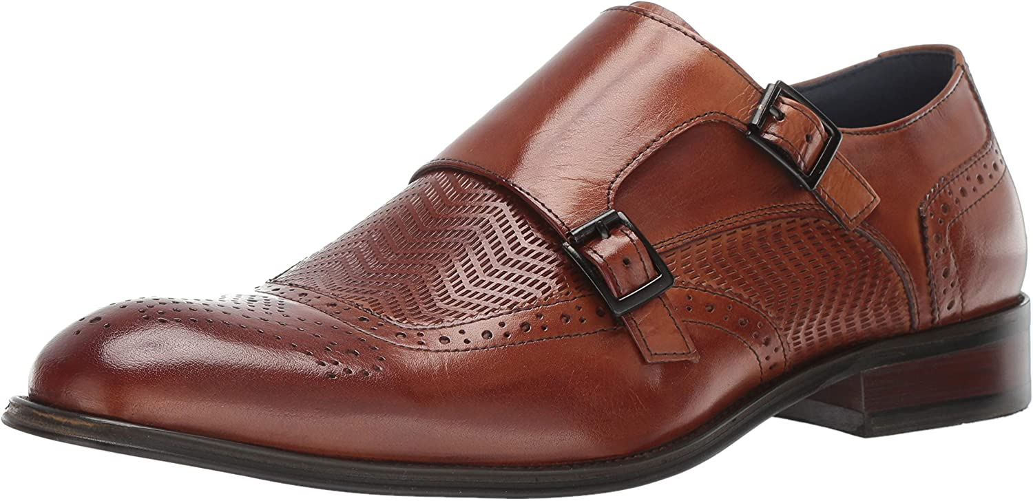 STACY ADAMS Men's Mabry Wing-tip Monk-Strap Nashville-Davidson Mall New color Loafer Double