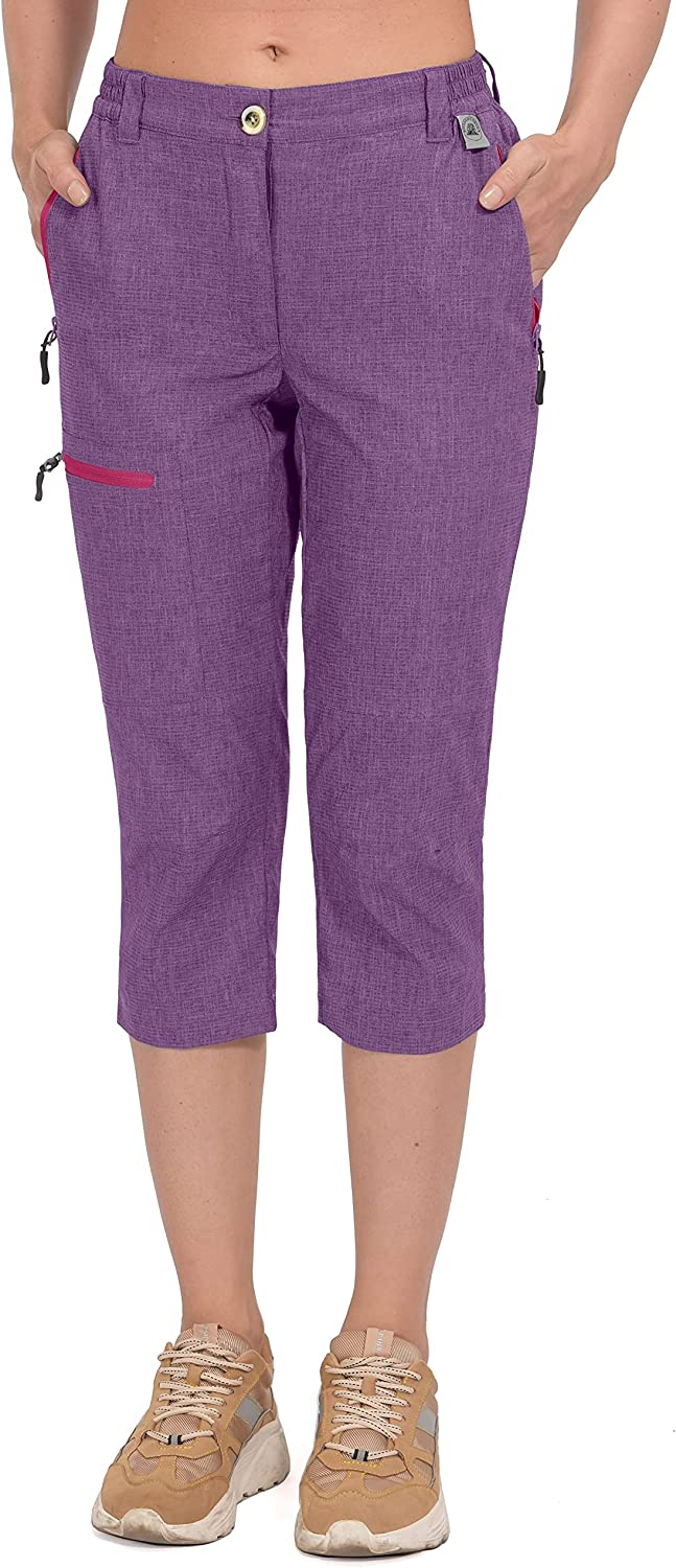 Mapamyumco Women's Ultra Breathable Quick Capri Recommended Dry Lightweight New product!!