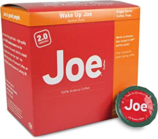 Joe Knows Coffee, Wake Up Joe, Medium Roast, Coffee Pods, 20 Count, Compatible with Keurig 2.0 Brewers
