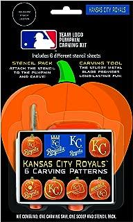 Topperscot by Boelter Brands MLB Pumpkin Carving Kit, 6 Stencils, Orange