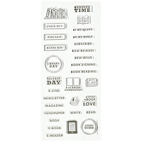 Hero Arts CL935 Kellys Reading Planner Rubber Stamp Set 25 Inch X 6 Clear