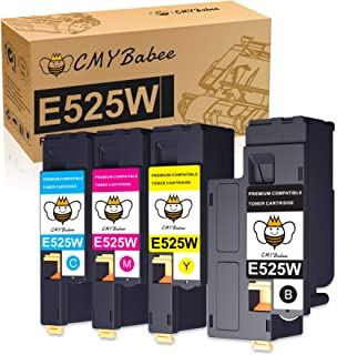 CMYBabee Compatible Toner Cartridge Replacement for Dell E525W E525 Printer Cartridges to use with E525W Color Laser Print...