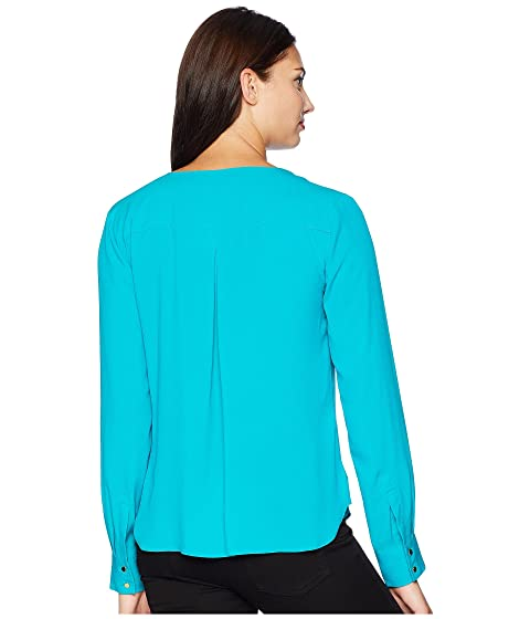 Sleeve Calvin Klein Top Long Pullover Woven xEvqE7w