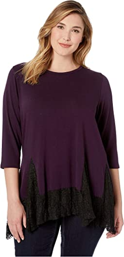 Plus Size Lace Inset Sweater
