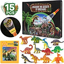 Dinosaur Toys,Realistic Looking Dinosaurs,with Mysterious Dinosaur World Discovery Book,Helping children to explore the spirit Early educational toys for 2 3 4 5 6 & Up old boys and Girls