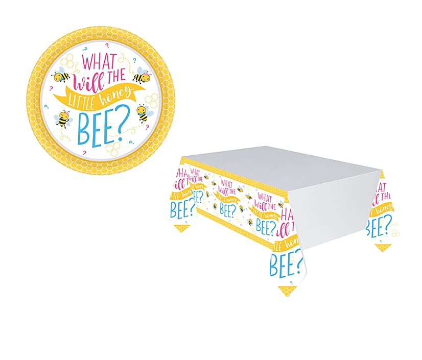 Amscan What Will It Bee? Gender Reveal Party Round Plates 7