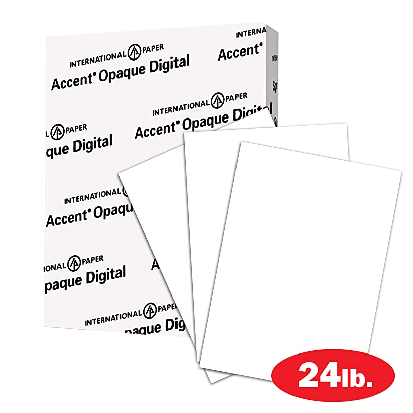 Accent Opaque 24lb White Paper, 60lb Text, 89 gsm, Legal Size, 8.5x14 Paper, 97 Bright, 1 Ream / 500 Sheets, Smooth Paper, Text Heavy Paper (188033R)