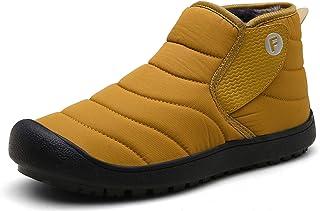 Kauson Bottes Homme Femme Hiver Neige Imperméable Chaussures de Confortables Doublure Chaude Chaussures en Coton Randonnée...