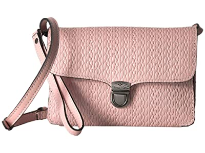 Patricia Nash Twisted Woven Embossed Bianco Crossbody (Pink) Cross Body Handbags