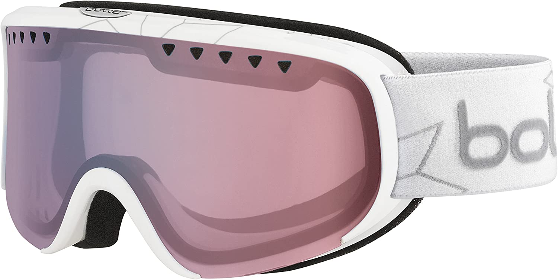 Bolle Scarlett Shiny Modulator 2.0 Light Control NXT Googles, White Edelweiss, One Size