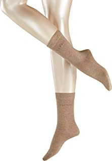 ESPRIT Socken Uni 2-Pack Baumwolle Damen schwarz grau viele weitere Farben verstärkte Damensocken ohne Muster atmungsaktiv dünn und einfarbig im Multipack 2 Paar