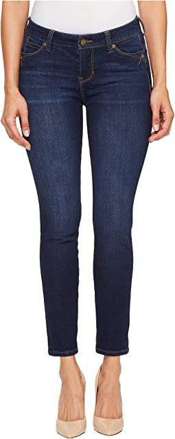 "Remy ""Hugger"" Crop with Shaping and Slimming Four-Way Stretch Denim in Corvus Dark"