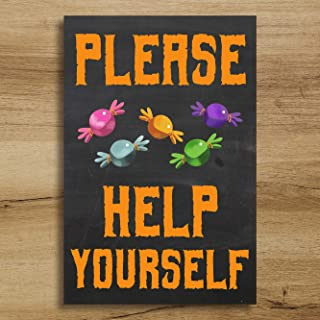 Remy Store Please Help Yourself, Halloween Signs, Halloween Sign, Halloween Decor, Candy Bowl Sign, Trick or Treat Sign