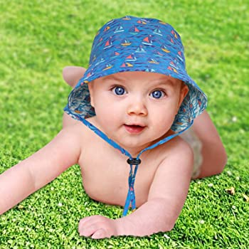 accsa Reversible Adjustable & Waterproof Baby Sun Hat (12 Months to 4T)