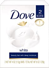 Dove Beauty Bar, White 4 Ounce (Pack of 2)