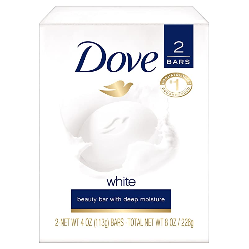 恐ろしい抽出ヘビーDove White Beauty Bar Soap, White 4 oz, 2 ea by Dove