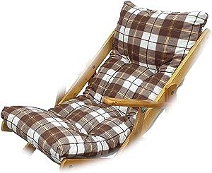 Totò Piccinni Cuscino Imbottito di Ricambio per Poltrona Sedia Sdraio Harmony Relax, 105x55x14cm (Marrone Scacchi)