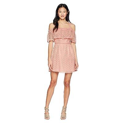 Jack by BB Dakota Aitana Geometric Lace Dress (Rosette Pink) Women
