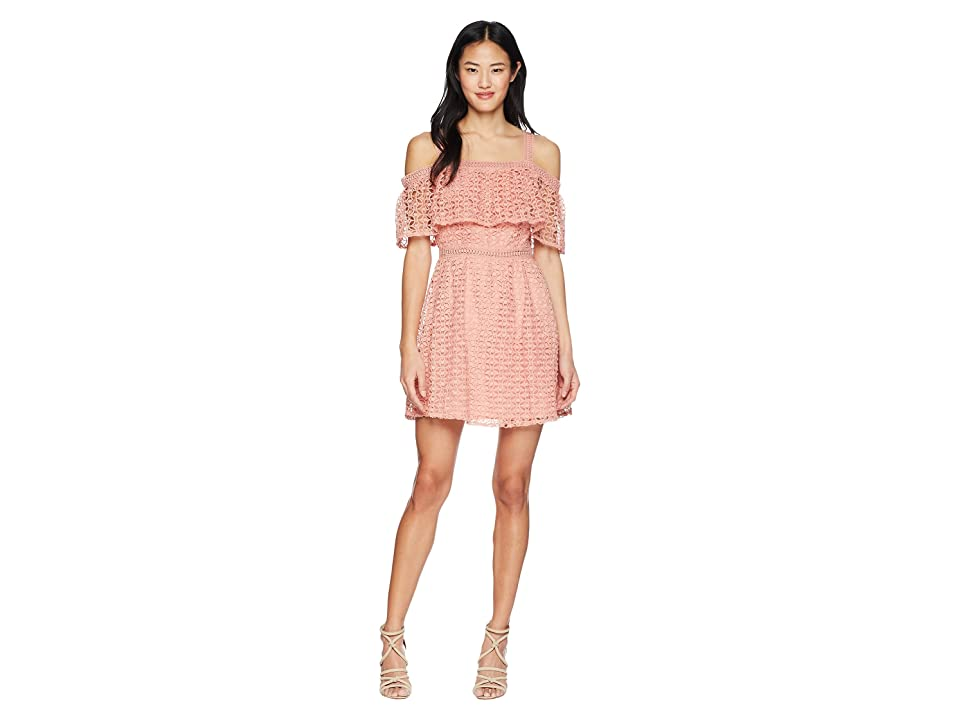 Jack by BB Dakota Aitana Geometric Lace Dress (Rosette Pink) Women