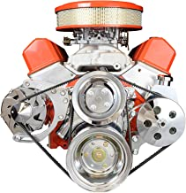 ICT Billet SBC Alternator/Power Steering Pump Accessory Drive Bracket Kit for Double Hump Heads 305 327 350 383 5.0L 5.7L V8 Designed & Manufactured in the USA 551576