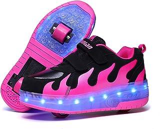 Led Luces Zapatos con Ruedas para Pequeños Niños y Niña Automática Calzado de Skateboarding Deportes de Exterior Patines e...