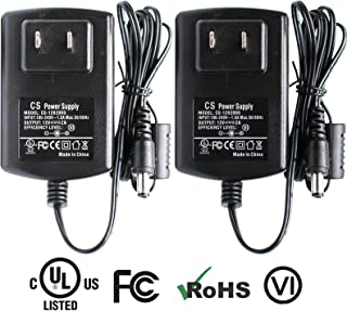ANVISION 2-Pack AC to DC 12V 2A 24W Power Supply Plug 5.5mm x 2.1mm for Led Strip Light, DVR CCTV Camera, Efficiency Level VI, UL Listed