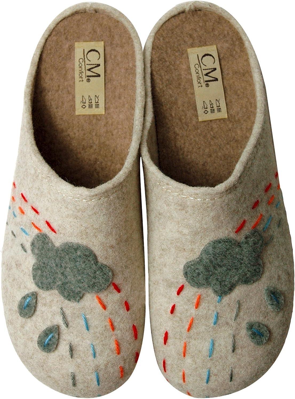 Calzamur Ladies Slippers 66800006 Rain Clouds, Beige