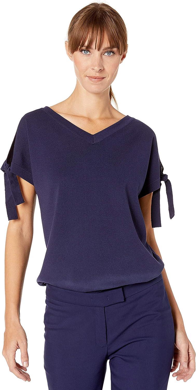 Anne Klein Women's Criss Cross Back Sweater Top