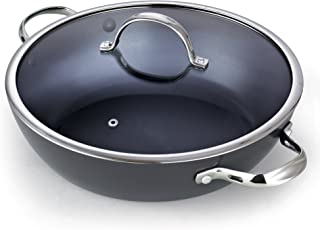 Cooks Standard 02486 5-Quart Everyday Chef's 12-Inch Hard Anodized Nonstick All Purpose Pan, Black